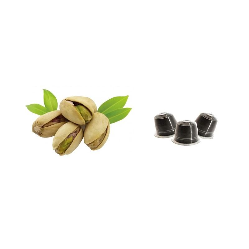 Caffè Miscela Robusta Aroma Pistacchio Italiano compatibili Nespresso conf 10 pezzi