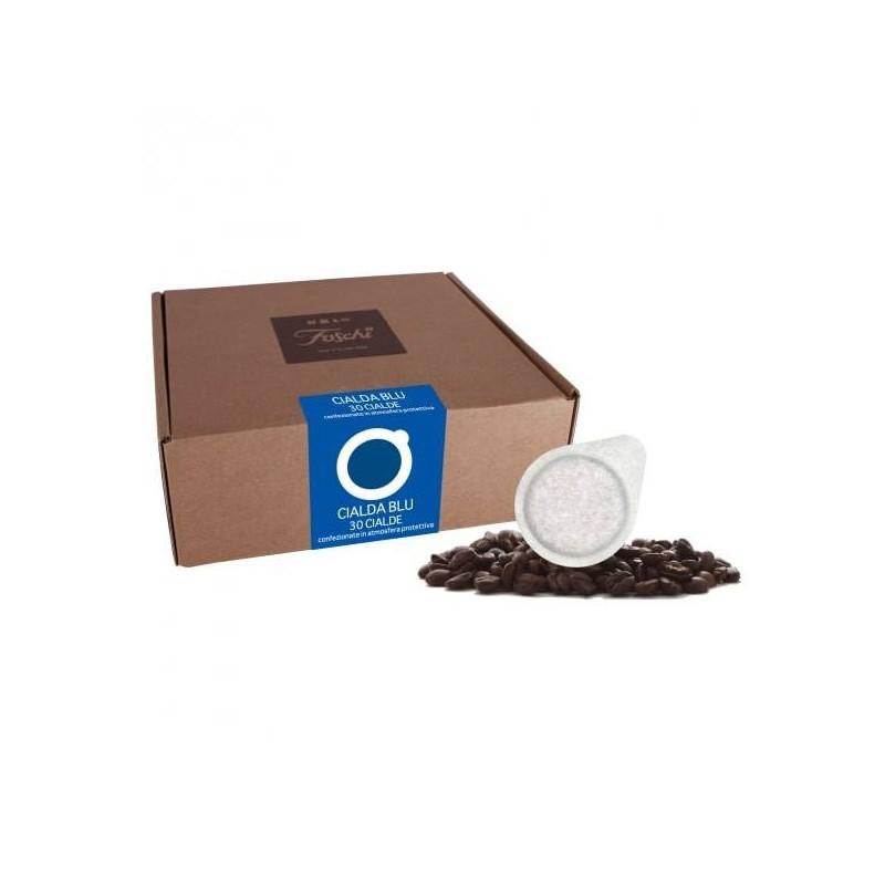 Cialde ESE confezione Blu x da 30 pezzi da 44mm caffè foschi