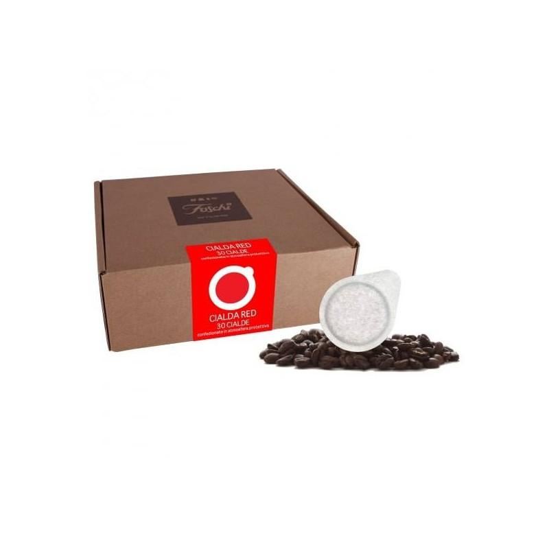 Cialde ese caffè foschi RED confezione 30 pezzi da 44 mm