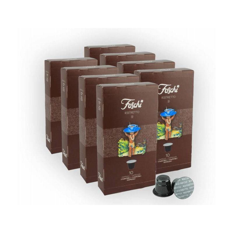 Capsule Compatibili Nespresso Wrap 80 pz Ristretto