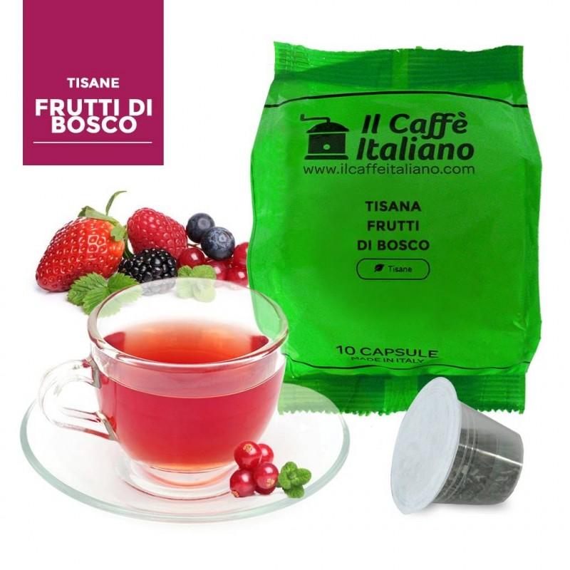 Tisana ai Frutti di bosco in  capsule nespresso compatibili