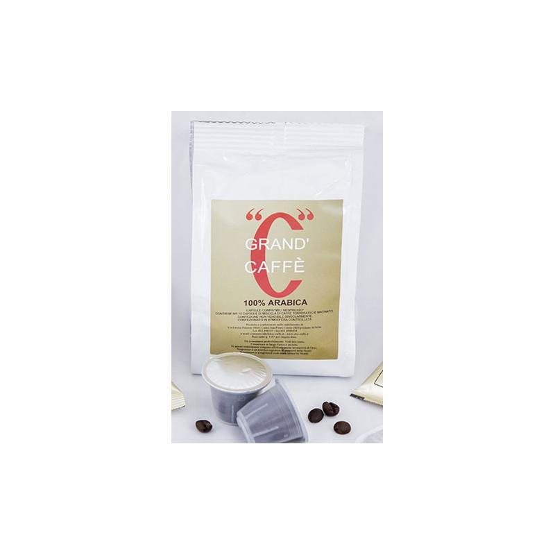 Caffè in capsule Nespresso compatibili  Arabica 100% confezione da 10 pezzi