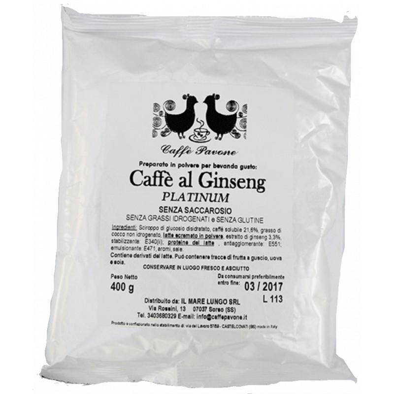 Caffè al Ginseng senza saccarosio busta da 400g