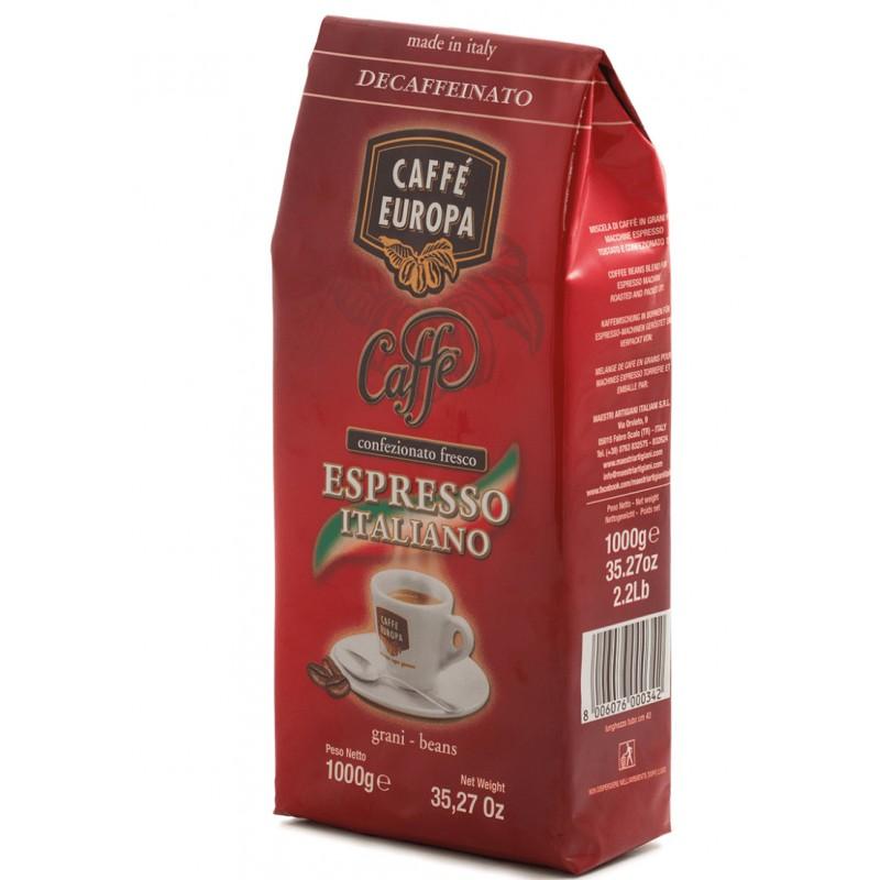 Caffè Decaffeinato in grani