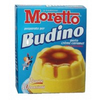 BUDINO CREM CARAMEL  Moretto 8 astucci da 2 bustine