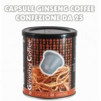 Capsule caffè al Ginseng barattolo da 25 pezzi foschi