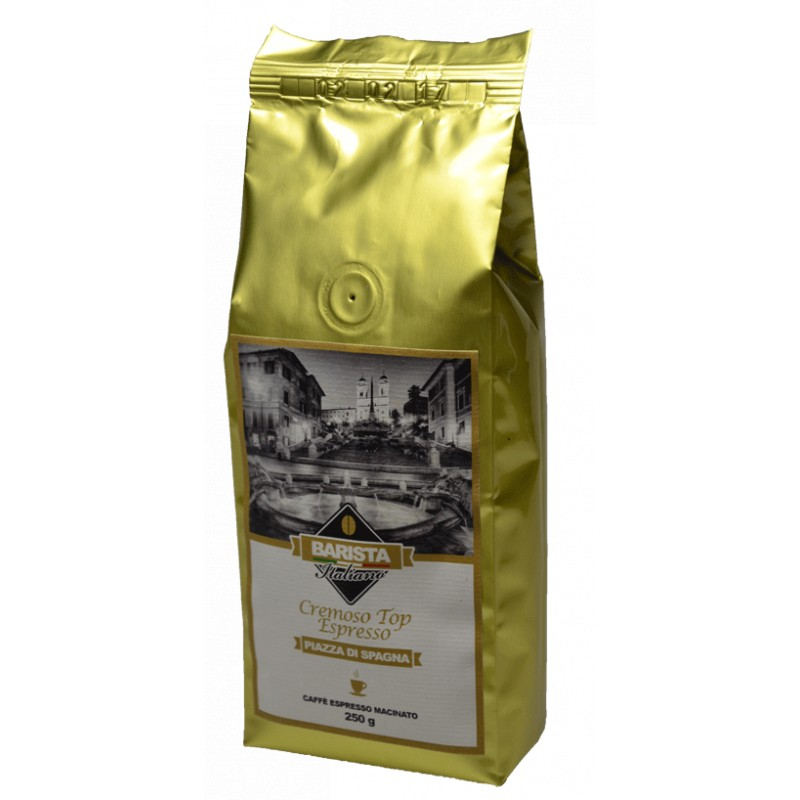 Caffè macinato top espresso Piazza di Spagna Cremoso di BaristaItaliano 250 gr