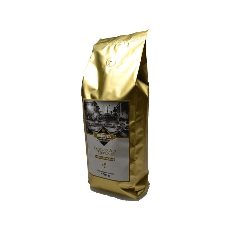 Caffè top espresso  tostato in Grani Piazza di Spagna Cremoso di BaristaItaliano 1Kg