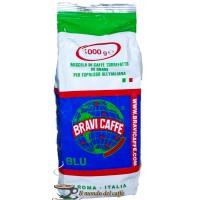 caffè Bravi Robusta 100 per cento in grani Blu