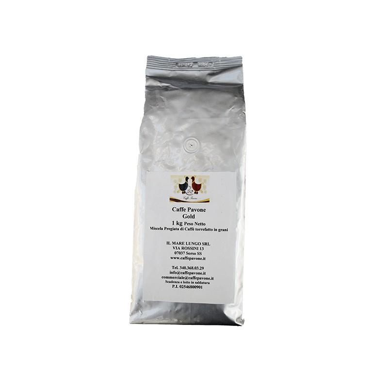 Caffè pavone in grani Gusto Gold 1 kg