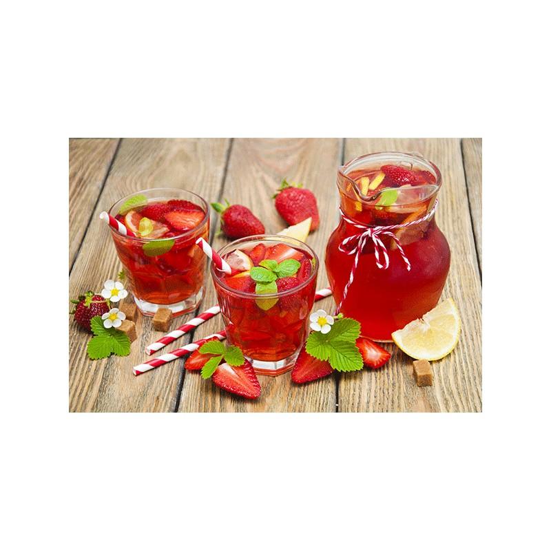 Ice tea shakerato alla fragola