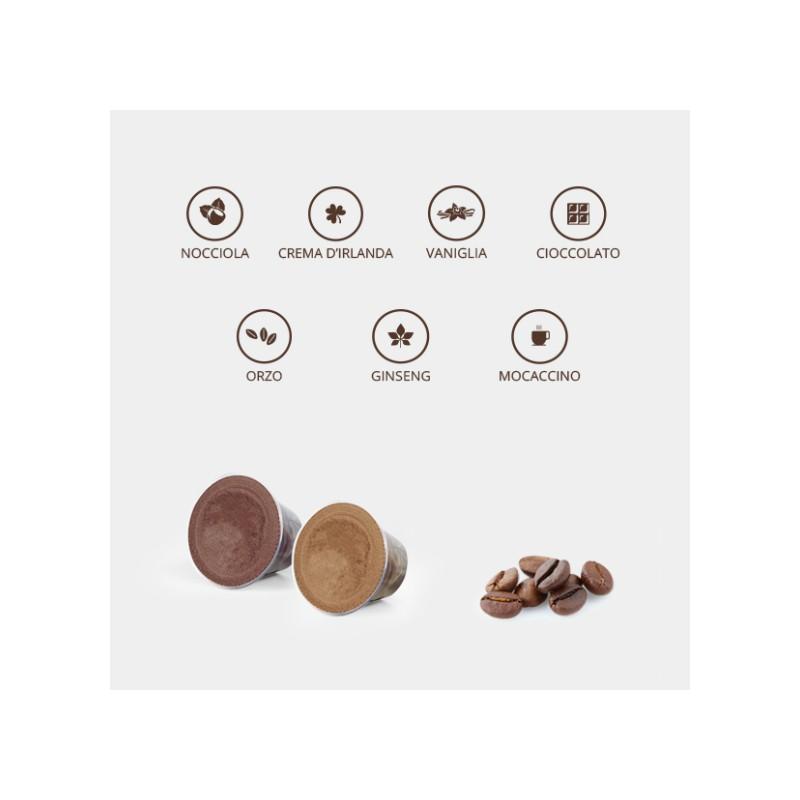 KIT caffè aromatizzati e solubili degustazione  in capsule compatibili Nespresso