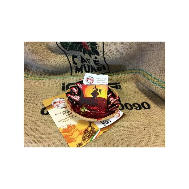 Cesto caffè con caramelle al caffè Kopiko